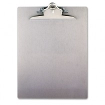 "Aluminum Clipboard w/High-Capacity Clip, 1"" Capacity, Holds 8 1/2 x 12, Silver"