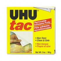 Tac Adhesive Putty, Removable/Reusable, Nontoxic, 3 oz/Pack