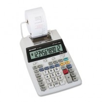 EL1750V LCD Two-Color Printing Calculator, 12-Digit LCD, Black/Red