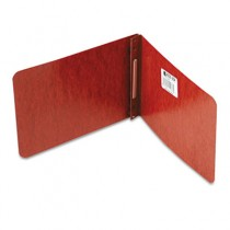 "Pressboard Report Cover, Prong Clip, 5-1/2 x 8-1/2, 2"" Capacity, Red"