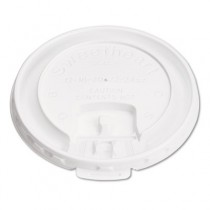 Liftback & Lock Tab Cup Lids for Foam Cups, Fits SLOX12J/16NJ/20NJ, White