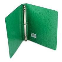 "Recycled PRESSTEX Round Ring Binder, 1"" Capacity, Dark Green"