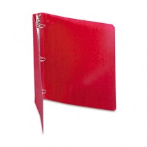 "Recycled PRESSTEX Round Ring Binder, 1"" Capacity, Executive Red"