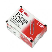 Smooth Economy Paper Clip, Steel Wire, No. 3, Silver, 100/Box, 10 Boxes/Pack