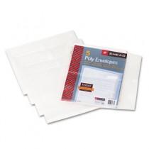 Side-Load Envelopes, 1 1/4 Inch Expansion, Jacket, Letter, Poly, Clear, 5/Pack