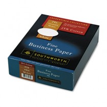 25% Cotton Business Paper, White, 24 lbs., Wove, 8-1/2 x 11, 500/Box, FSC