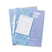 Employee Application Form, 8 3/8 x 11, 50/Pad, 2/Pack