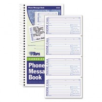 Spiralbound Message Book, 2 3/4 x 5, Carbonless Duplicate, 600-Set Book