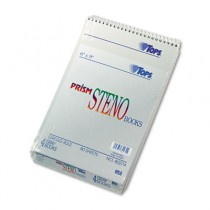 Spiral Steno Notebook, Gregg Rule, 6 x 9, Gray, 4 80-Sheet Pads/Pack