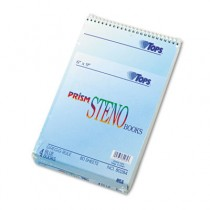Spiral Steno Notebook, Gregg Rule, 6 x 9, Blue, 4 80-Sheet Pads/Pack
