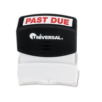 Message Stamp, PAST DUE, Pre-Inked/Re-Inkable, Red