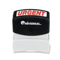 Message Stamp, URGENT, Pre-Inked/Re-Inkable, Red