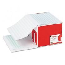 Green Bar Computer Paper, 20lb, 14-7/8 x 11, Perforated Margins, 2400 Sheets