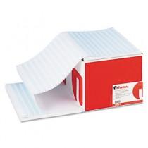 Blue Bar Computer Paper, 18lb, 14-7/8 x 11, Perforated Margins