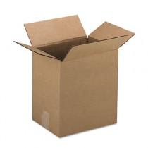 Corrugated Kraft Fixed-Depth Shipping Carton, 9w x 12l x 3h, Brown