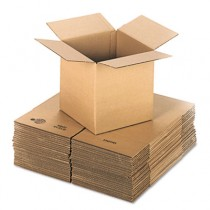 Corrugated Kraft Fixed-Depth Shipping Carton, 12w x 12l x 12h, Brown