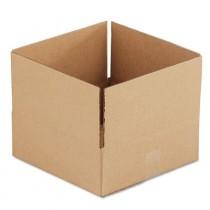 Corrugated Kraft Fixed-Depth Shipping Carton, 12w x 12l x 4h, Brown