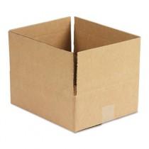 Corrugated Kraft Fixed-Depth Shipping Carton, 10w x 12l x 4h, Brown