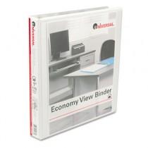 "Round Ring Economy Vinyl View Binder, 1"" Capacity, White, 12/Carton"