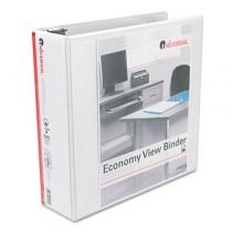 """Round Ring Economy Vinyl View Binder, 3"""" Capacity, White"""