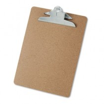 "Hardboard Clipboard, 1-1/4"" Capacity, Holds 8-1/2 x 11, Brown"