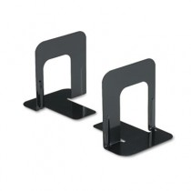 Economy Bookends, Nonskid, 4 3/4 x 5 1/4 x 5, Heavy Gauge Steel, Black