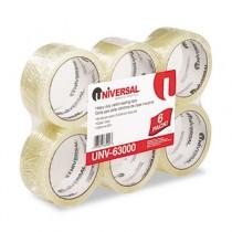 """Box Sealing Tape, 2"""" x 55 yards, 3"""" Core, Clear, 6/Box"""