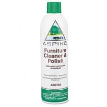 Aspire Furniture Cleaner & Polish, Lemon Scent, 16 oz. Aerosol Can