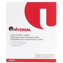 Laser Printer Permanent Labels, 8-1/2 x 11, White, 100/Box