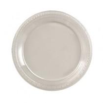 "Plastic Dinnerware, Plate, 7"" Diameter, Clear"