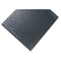 Crown-Tred Indoor/Outdoor Scraper Mat, Rubber, 44-1/2 x 67-3/4, Black