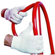 String Knit Work Gloves, Regular Weight, Natural, Large, Dozen