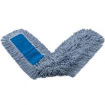 Dust Mop Heads, Kut-A-Way, White, 48 x 5, Cut-End, Cotton