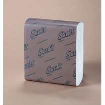 SCOTT 1/8-Fold Dinner Napkins, 1-Ply, 15 x 16.75, White, 250/Pack
