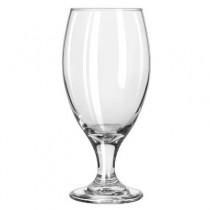 "Teardrop Glass Stemware, Beer Goblet, 14.75oz, 7"" Tall"