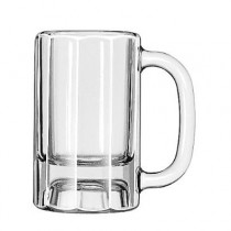 "Glass Mugs & Tankards, Paneled Mug, 10oz, 5 3/8"" Tall"