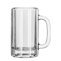 "Glass Mugs and Tankards, Paneled Mug, 16oz, 6 1/8"" Tall"