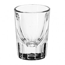 "Whiskey Service Drinking Glasses, Fluted Lined Shot Glass, 1-1/2 oz, 2-7/8""H"