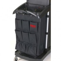 Organizer for Cleaning Carts, Black, 9-Pocket, Fabric, 28L x 19 3/4W x 1 1/2H