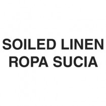 """Medical Decal, """"Soiled Linen"""", 10 x 4, White"""