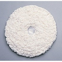 "Standard Thickness Carpet Bonnets, Carpet, 21"" Diameter, White"