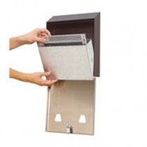 """Smokers' Station Wall Mounted Receptacle, 10""""w x 3""""d x 12 1/2""""h, Black"""