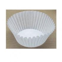Fluted Baking Cups, Dry-Waxed Paper, White
